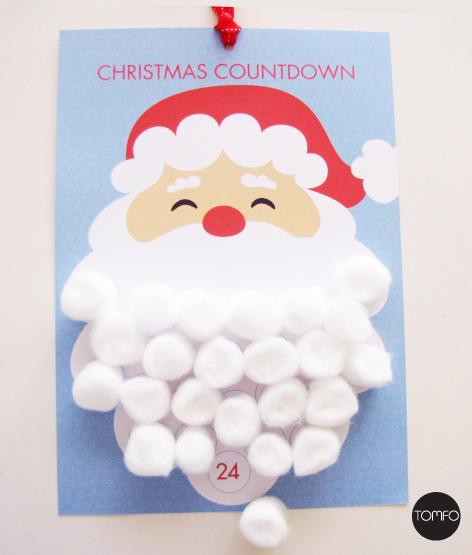 ... beard Christmas countdown advent calendar – FREE Printable | TOMFO