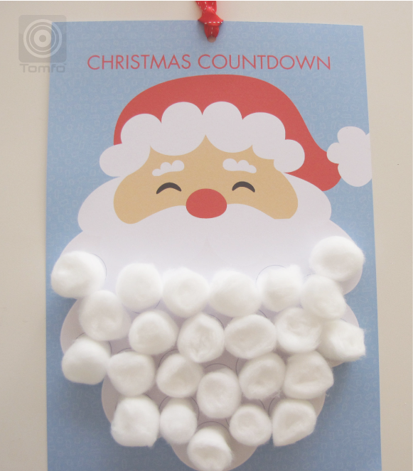 On Christmas eve you will have made santa's beard complete and he ...