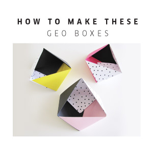 DIY Triangle Boxes - Tomfo