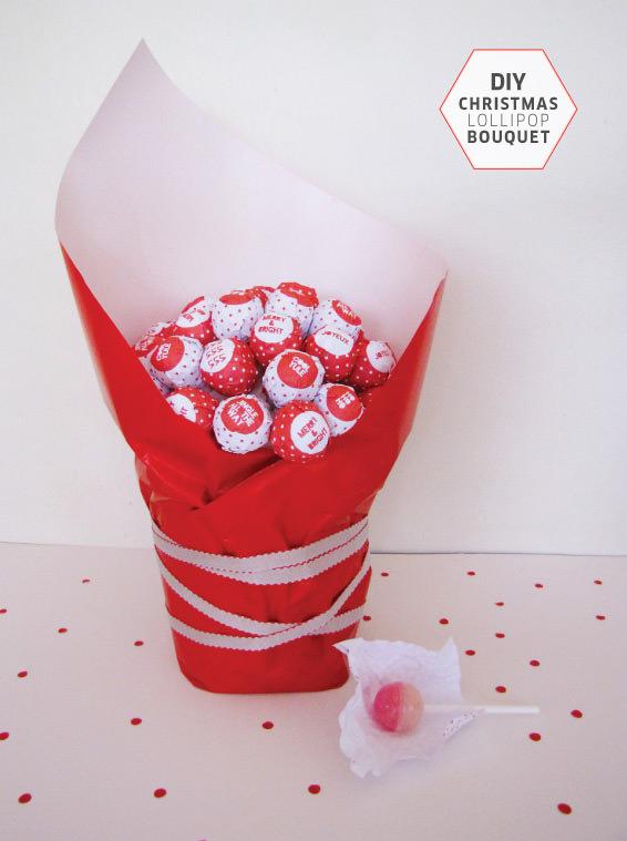 Christmas DIY Lollipop Bouquet Gift TOMFO