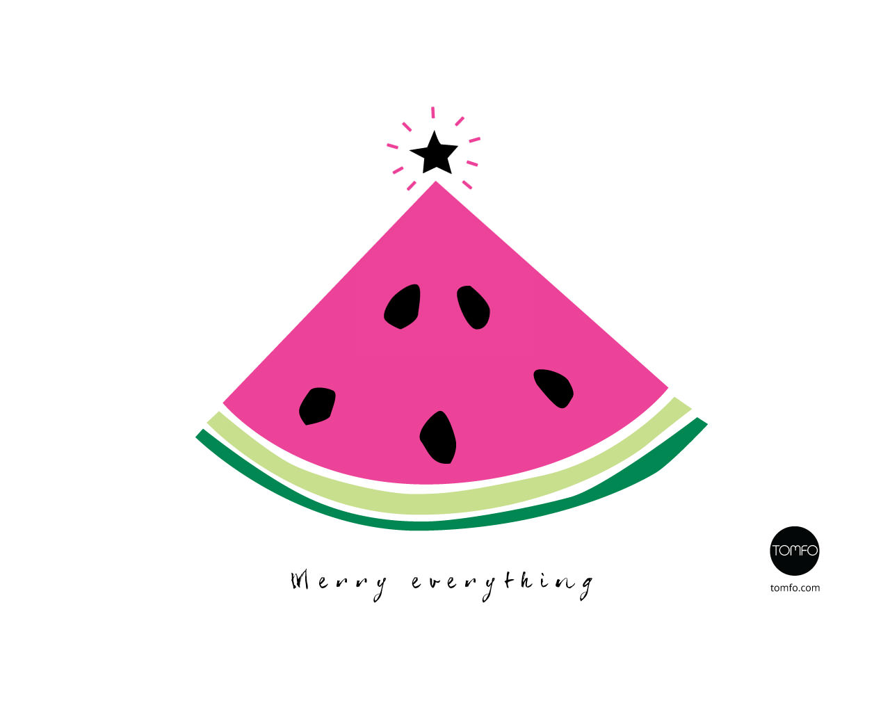 merry everything watermelon wallpaper for computer