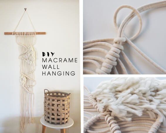 How To Make A Macrame Wall Hanging diy modern macrame wall hanging | tomfo