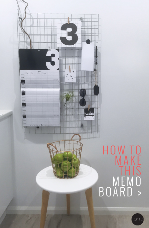 diy wire memo board | Tomfo | Yamba Scandi | memo board