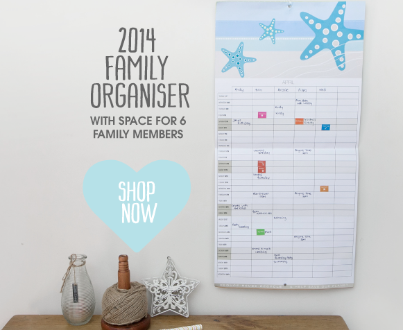 the 2014 family planner features 368 stickers to mark holidays events birthdays school terms and more