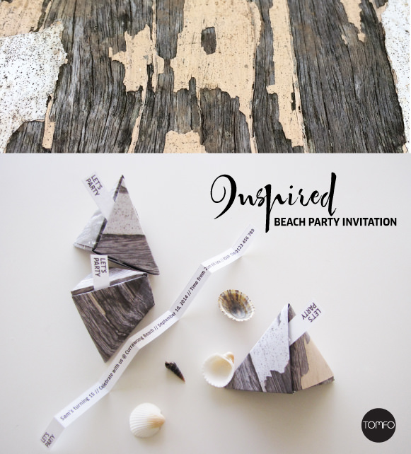 Folded 3D triangles invitation | DIY Beach Party Ideas For Your Beach-Themed Celebration