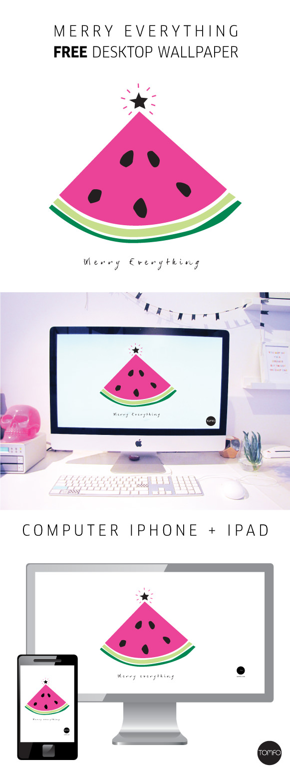 TOMFO-FREE-WATERMELON-CHRISTMAS-TREE-WALLPAPER