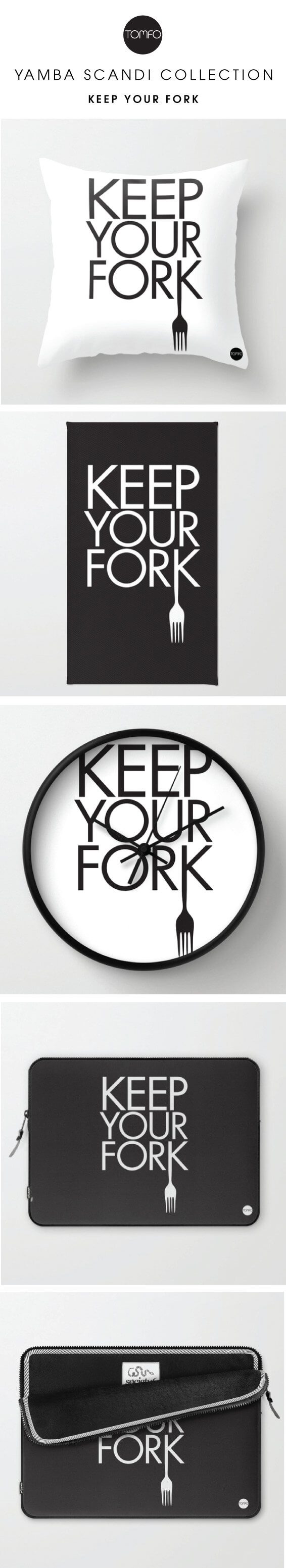Keep-your-forkCLOCK-AND-LAPTOP-SKIN-Tomfo