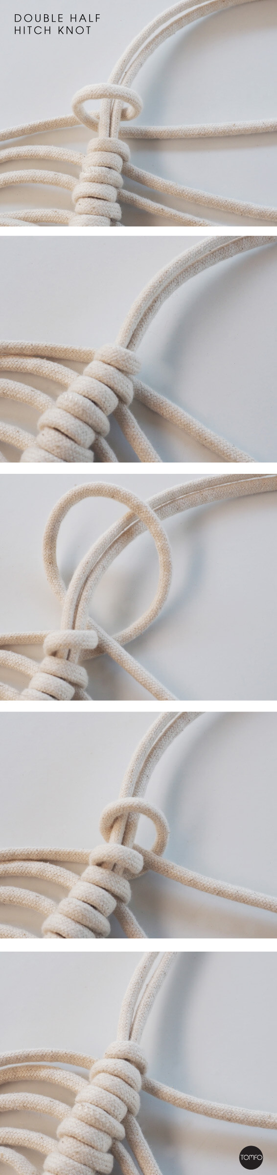 DIY-Macrame-hanging-Double-half-hitch-knot-Tomfo