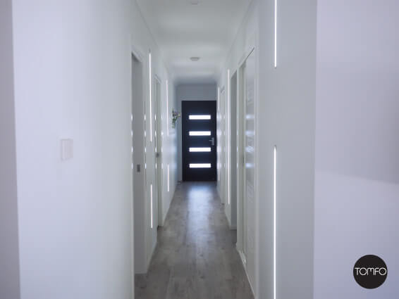 lighting a hallway. Channel-strip-lighting-for-hallways-Tomfo Lighting A Hallway B