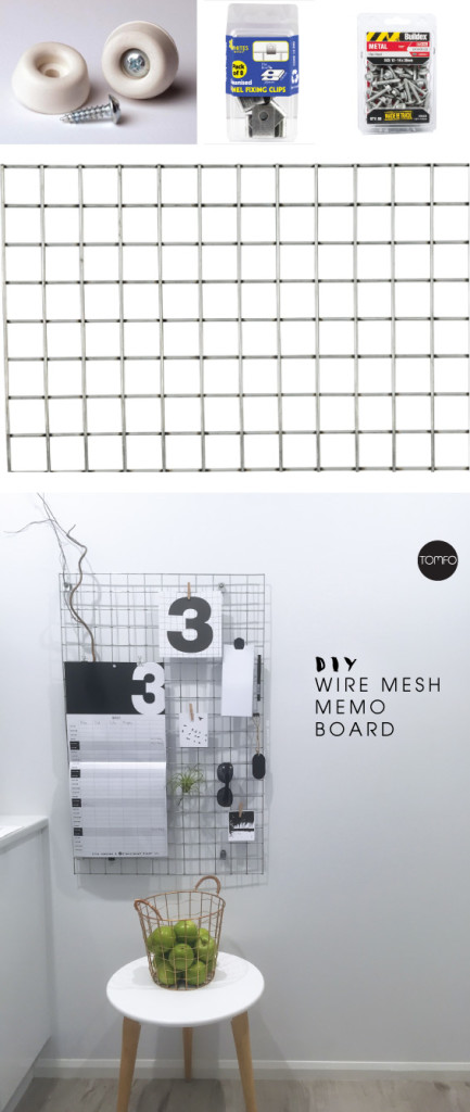 TOMFO-Diy-wire-mesh-bulletin-board