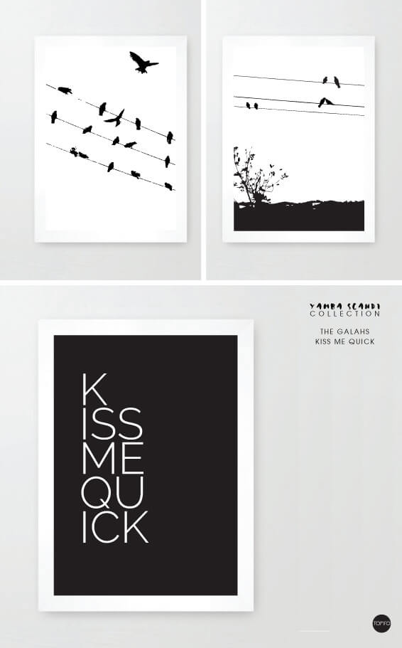 TOMFO-The-galahs-Kiss-me-quick-prints