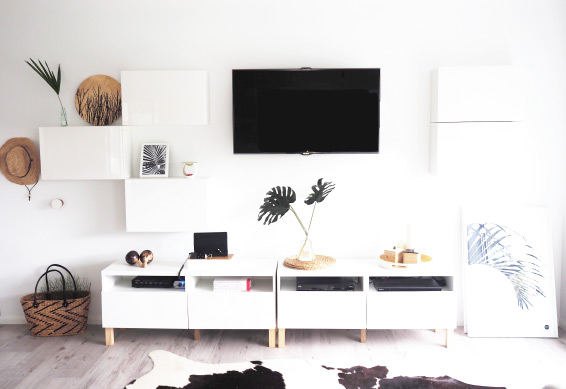 monochrome ikea besta tv wall unit hack tomfo. Black Bedroom Furniture Sets. Home Design Ideas