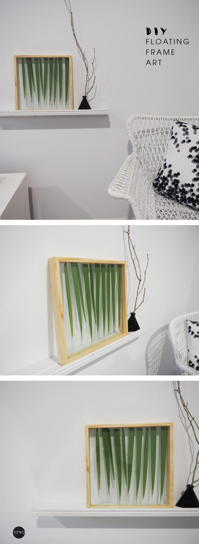 DIY floating frame art | TOMFO