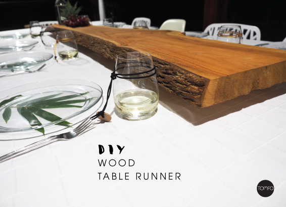 A DIY Wood Table Runner.