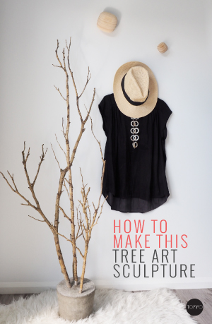 DIY tree art sculpture | Tomfo | Yamba Scandi | Scandinavian inspired | diy concrete ideas