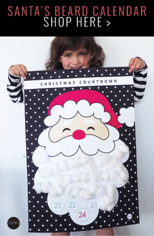 Santa's beard calendar | Christmas countdown calendar | Tomfo | Christmas calendar | Advent calendar